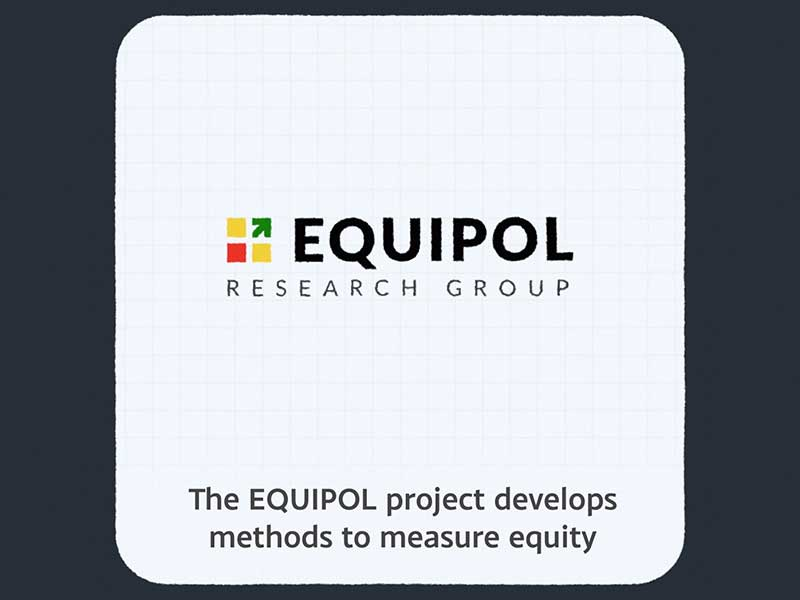 EQUIPOL logo and title 'The Equipol project develops methods to measure equity'